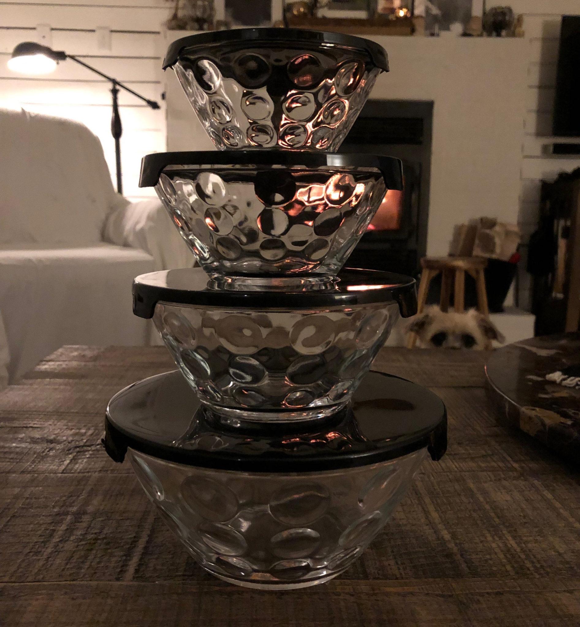 Bubble Serving Bowls With Lids Set Vintage Simply Sugar Com