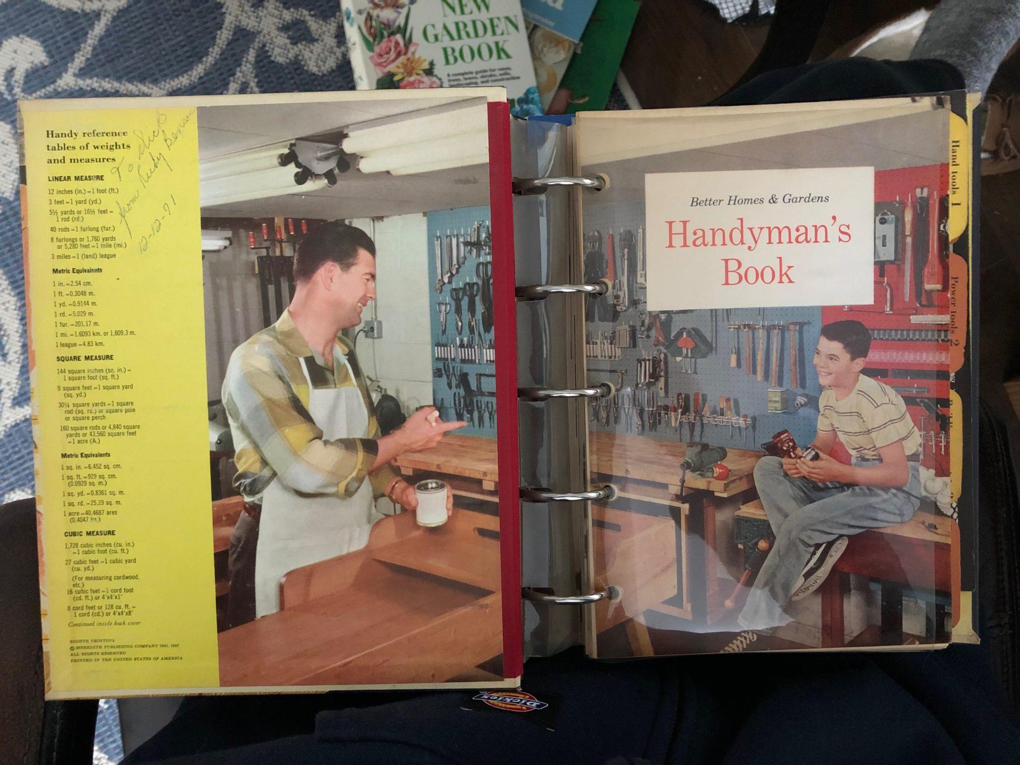 Better Homes & Gardens Handyman's Vintage Book
