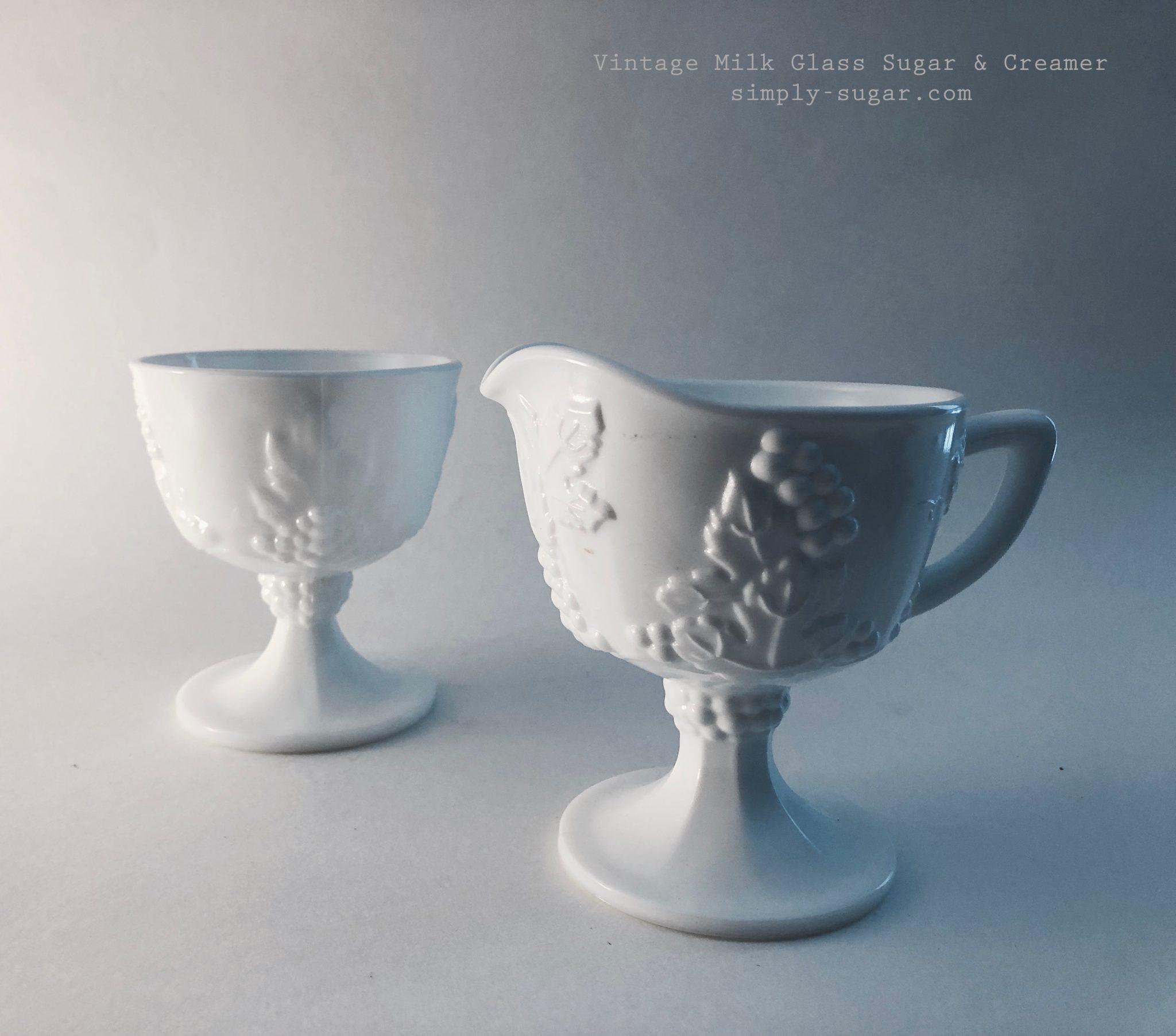 Milk Glass Sugar & Creamer
